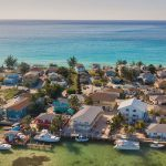 Caribean island from birds eye view