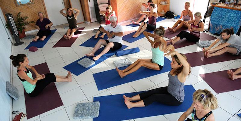 Lydie Ometto teaching yoga