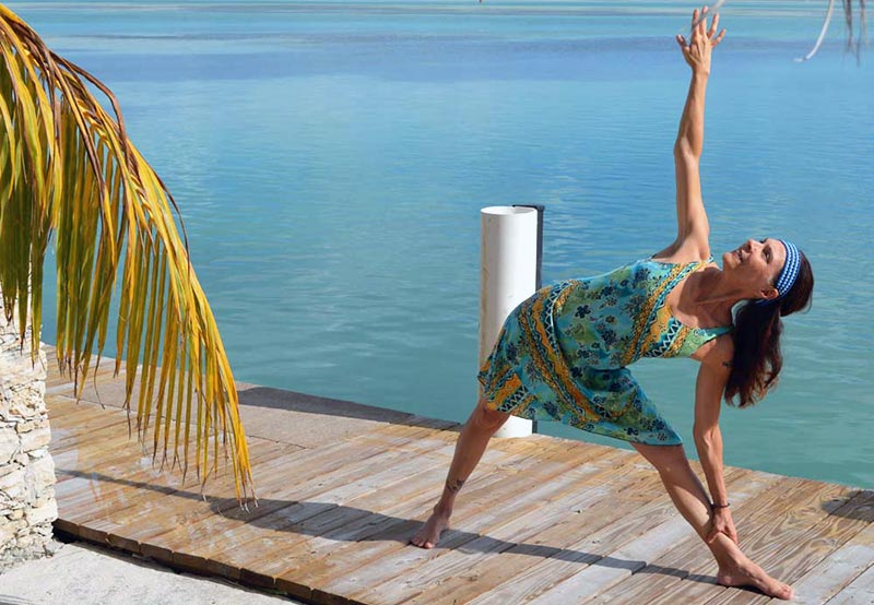 Lydie Ometto practising yoga