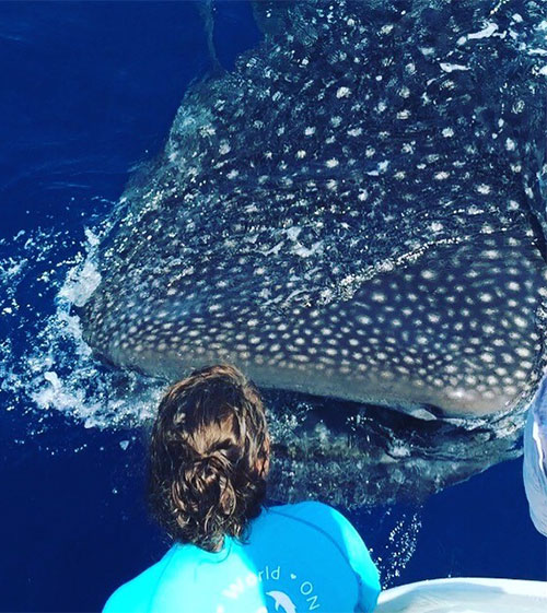 Rhonda & Whale Shark